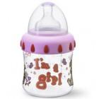 Биби/bibi бутылочка 150мл широкое горло соска силикон регулируемый поток 1+мес  (107992)