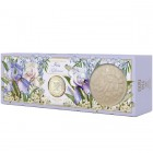 Фьери дея мыло парфюмированное ирис-глициния 125гх3  (картон)