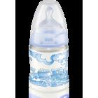 Нук 10 743 284 Бутылочка BABY BLUE пласт. 150мл+сос сил с рожд.